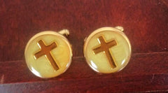 Vintage Gold Cross Cuff Links