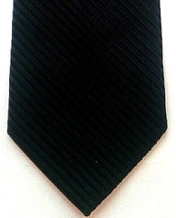Private Stock Black Twill Hand-Made Silk Tie