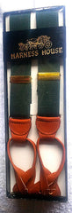 New- Vintage- Harness House Green Suspenders