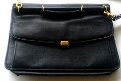 Kolte of Italy- Black Leather Attache Case
