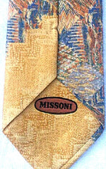 Missoni of Italy- Abstract Print Silk Tie