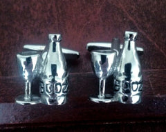 New- Cocktail 'Booze' Novelty Cuff Links