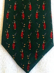 Lauren- Ralph Lauren Green Novelty Golf Tie