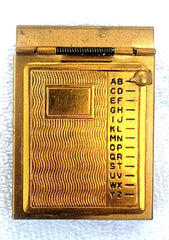 Vintage Gold Plated Pocket Size Address Book