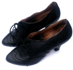 Women's Miz Mooz Collection- Black Ankle Shoes- size Euro (38) / US 7.5