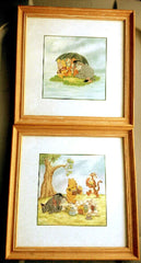 Set of 2- Winnie the Pooh Framed Wall Prints