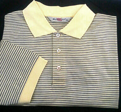 New- Windsor Lake Yellow/Blue Stripe Polo/ Golf Shirt- Size M
