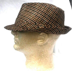 New- Vintage Crown Brand Fedora Hat- size L/XL
