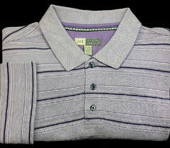 Joe-Joseph Abboud- Purple Stripe Polo Shirt- Size XL