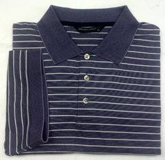New- Windsor Lake Purple/White Stripe Polo/ Golf Shirt- Size L