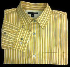 New- Banana Republic Pinstripe Dress/ Fashion Shirt- size L