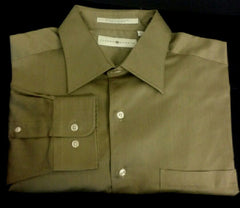New- Joseph Abboud Brown Cotton Dress Shirt- Size (16.5 x 34/35)