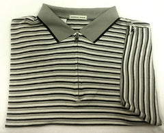 New- Cutter & Buck Gray/Black 1/4 Zip Front Polo/ Golf Shirt- size L