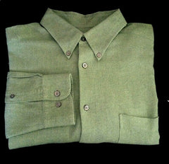 Talbot's for Men- Green Herringbone Flannel Fashion Shirt- Size XL