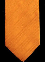 Kolte of Italy Orange Tone on Tone Silk Stripe Tie