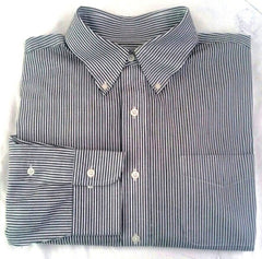 New- Lauren- Ralph Lauren Black/White Pinstripe Dress Shirt- Size (16 x 32/33)