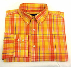 William 'W' Yellow Plaid Summer Fashion Shirt- size L