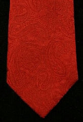 Private Stock Red Paisley Woven Silk Tie