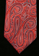 Hathaway Red Paisley Silk Tie