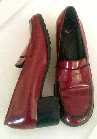 d377a65ea35 Women's COACH- Red Patent Leather Loafer Shoes- size 6.5B – Mentauge