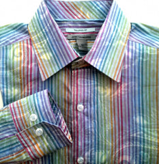 Johnston & Murphy- Tailored Fit- Multi-Color Retro Fashion Shirt-Size M