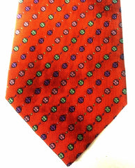 Private Stock 9 Fold- Orange Polka Dot Silk Tie