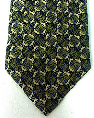Vintage Brioni Green/Blue Art Deco- Hand Rolled Silk Tie