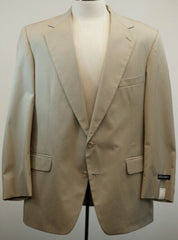 New- Southampton Khaki Cotton Blend Summer Sport Coat- size 44R
