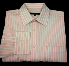 New- G2000 Pink & White Stripe Dress Shirt- size 16x34
