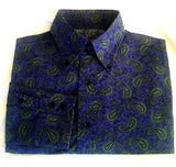 Vakkorama- Blue Paisley Fashion Shirt- size L