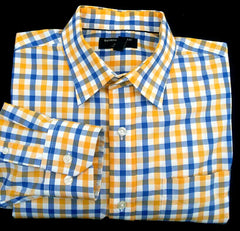 New- Banana Republic Check Dress/ Fashion Shirt- size M (15-15.5)