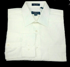 New- Versa White Broadcloth Dress Shirt- Size M
