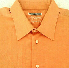 Jack Lipson Signature Series Orange Dress Shirt- Size 16.5L