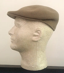New- USA Made Tan Wool Felt Formal Winter Cap- size S