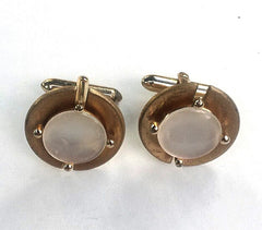 Vintage Ivory & Gold Cuff Links