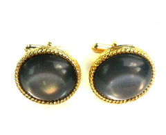Vintage Gray & Gold Cuff Links