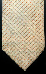 Ike Behar Ivory/Yellow Woven Silk Tie