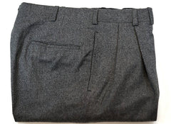 Oxxford Clothes- Gray Flannel Dress Trousers- Size 34
