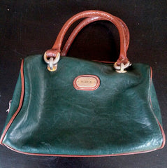 JG Hook Green Leather Handbag