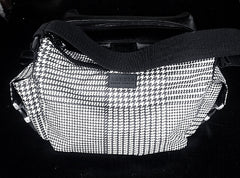 New- Lauren/Ralph Lauren B/W Houndstooth Plaid Purse
