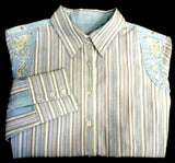 Women's Robert Graham Multi-Color Striped Fashion Blouse- size M