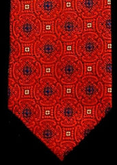 Private Stock Red/White/Blue Geometric Woven Silk Tie