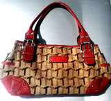 Tignanello Canvas & Leather Handbag