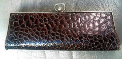 Women's- Vintage Brown Eyeglass Case