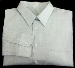 New- Ermenegildo Zegna- White/Blue Pin-Dot Dress Shirt- size (43) 17