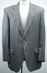 New- Alan Flusser Gray Houndstooth Silk & Wool Sport Coat- size 44R