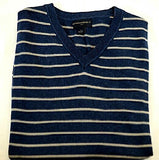 New- Banana Republic Blue Stripe Cotton Knit Sweater Vest- size M