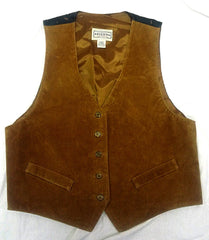 Vintage Women's Arizona Jean Co- Brown 100% Suede Leather Fashion Vest- size L