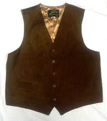 Vintage Jolly Jumbuck Leathers USA- Brown Suede Leather Fashion Vest- size L