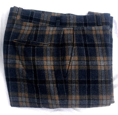Vintage Asher Gray Plaid Flannel Wool Trousers- Size 34